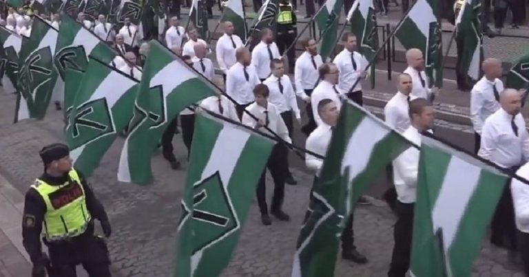 "Hundreds of neo-Nazis march in Sweden on May Day to ""regain power from the… Zionist elite"""