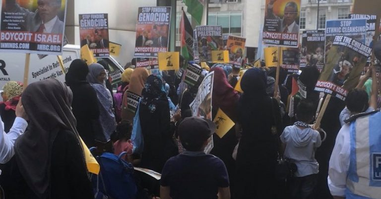 "Speakers at Iran-backed Quds rally in NYC say ""Zionist Nazi terrorists"" ""steal money"" from American workers, assassinated JFK, and killed Michael Brown"