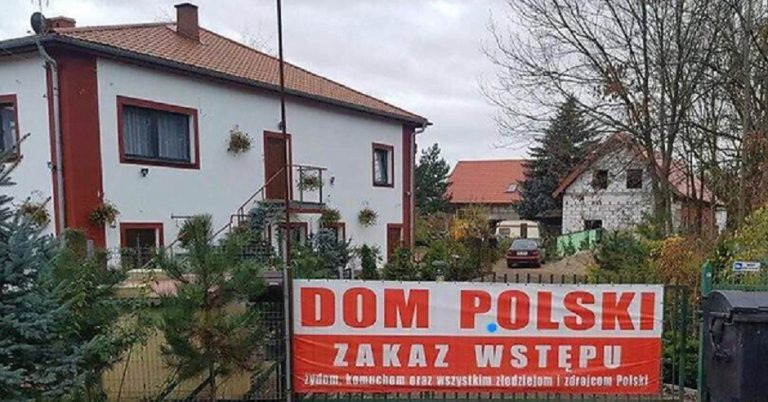Polish hotel owned by far-right extremist displays sign refusing entry to Jews