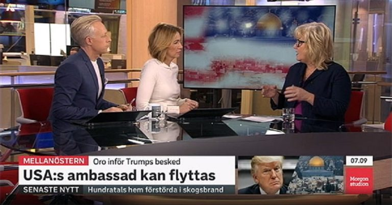 "Swedish state TV claims that the ""Jewish lobby"" caused Trump to move embassy"