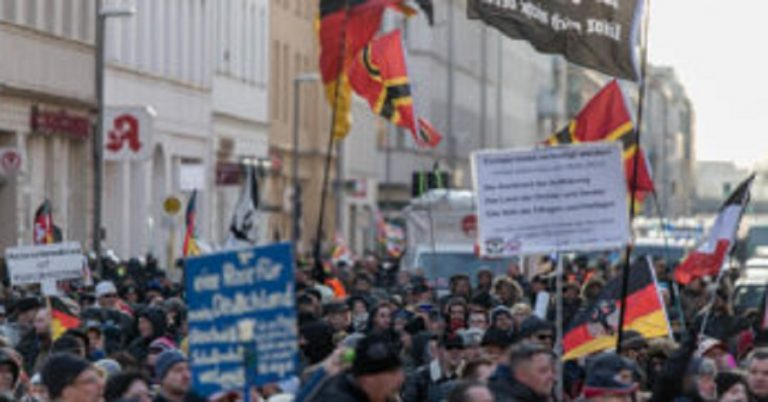 500 far right extremists march in Berlin and are addressed by mainstream German politicians