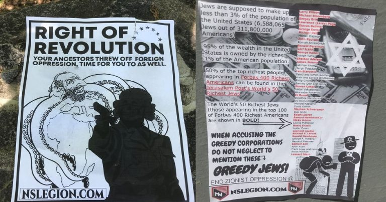 Neo-Nazi propaganda inciting violence against Jews at Duke University