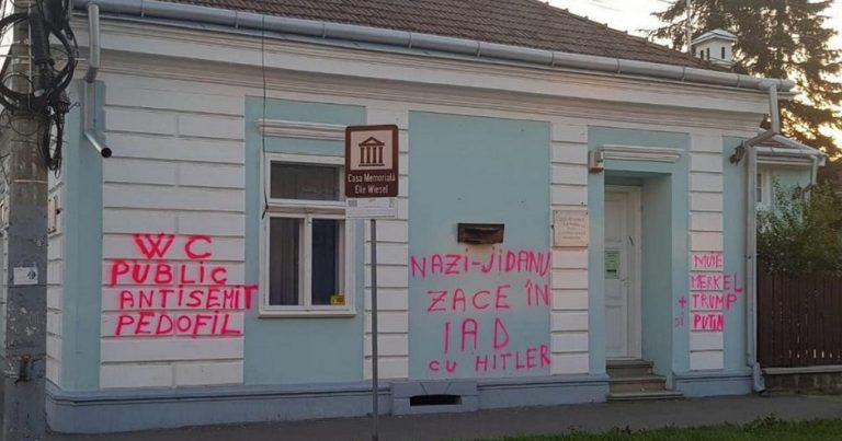 """Elie Wiesel's house defaced with antisemitic graffiti calling him a """"Jewish Nazi"""""""